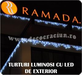 turturi luminosi cu led 6m interconectabili de exterior