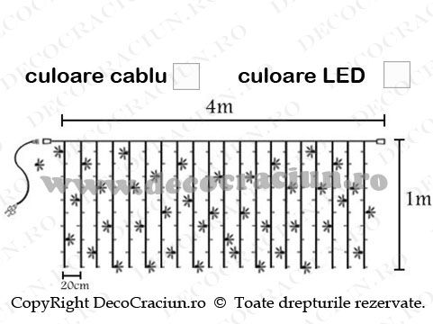Perdele interconectabile de lumini cu led de exterior